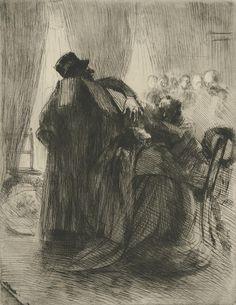 Mourning (Le deuil), 1886 - 1887, Albert Besnard, Van Gogh Museum, Amsterdam
