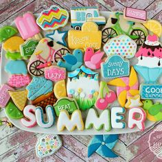 Summertime mix of sugar cookies. A Sprinkle of Sunshine.