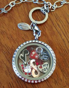 My current locket - these are a few of my favourite things!