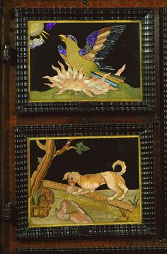 Detail, pietre dure cabinet, c. 1615 - 1620. Built in the court workshop of the Grand Dukes of Tuscany