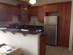Adding the stainless steel appliances #BridgeviewApartments