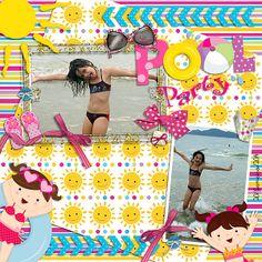 Créditos: Kit Pool Party (Ju Oliveira) Template: Pumpkineer (Joyful Expressions) Foto: Arquivo pessoal Editor: Photoshop Cs5