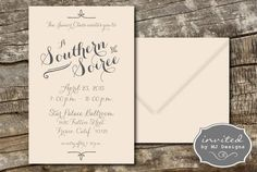 Southern Soiree Party Invitation  Digital Download by invitedbymj