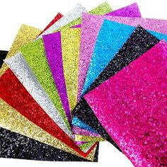 15 Color Mixed Superfine Glitter Faux Leather Sheets Leather Fabric 15 Pieces A4 Size for Bows Earrings Hair Accessories Bag Making DIY Crafts