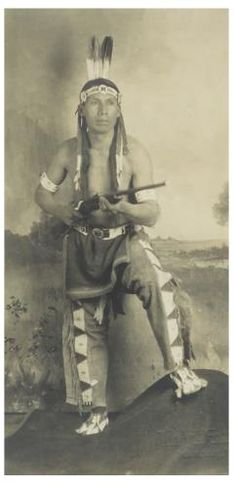 Ska-na-tu-na-wi-nag (aka Charges Alone, aka Thomas Rogers Jr.) the son of Thomas Rogers Sr. and Yellow Calf Woman - Arikara - 1926