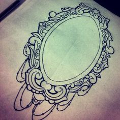 Filigree Frame Tattoo | Frame Tattoo Sketch Like. likes: 34 3