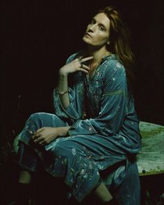 "Fatmdaily: Florence Welch photographed by Vincent Haycock vs ""The Day Dream"" by Dante Gabriel Ro."