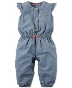 Carter's Baby Girls' Chambray Jumpsuit