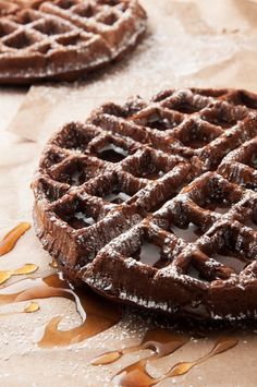 Dark Chocolate Waffles by I bake he shoots: a chocolate alternative for breakfast that's not overly sweet.   ibakeheshoots.com