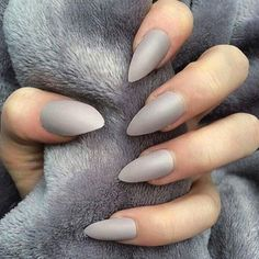 Gotta love the point  #greyeverything #greynails #greylife #fashionista #unique #styleinspo #personalstyle #luxury #exclusive #design #create #fashionblogger #pointynails #trend #trendsetters by house.of.grey