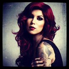 Kat Von D-hair color