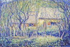 Theodore Earl Butler - Untitled (Buildings And Trees - Old Farm - Toulgouat House), 1926