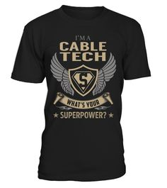 Cable Tech Superpower Job Title T-Shirt #CableTech