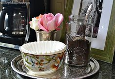 Cute Coffee Station from At The Picket Fence