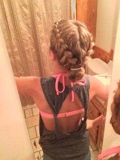 Double pulled French braids.