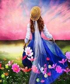 gif femme woman mulher - Page 25 Beautiful Fantasy Art, Beautiful Gif, Lotus Flower Wallpaper, Gif Bonito, Beautiful Women Videos, Beau Gif, Spring Images, Amazing Gifs, Gif Photo
