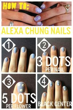 HOW TO: Alexa Chung's flower nails