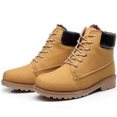 purchase cheap c4cec a6571 DROPKICKS STOCK ITEM  Pu leather man boot Winter men boots ankle shoes warm  snow velvet fur work flats martin motorcycle male shoe lace-up size 34-46