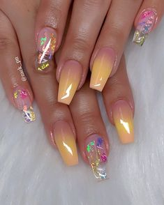 Great Stunning Nail Images in 2019 - Letme Beauty Summer Acrylic Nails, Best Acrylic Nails, Cute Acrylic Nail Designs, Nail Art Designs, Claw Nails, Gel Nails, Fire Nails, Dream Nails, Creative Nails