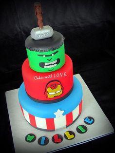 pasteles de cumpleaños avengers - Buscar con Google