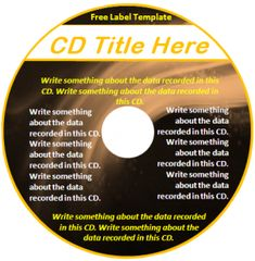 Free Editable Download in MS Word CD Label Template - Great for ...