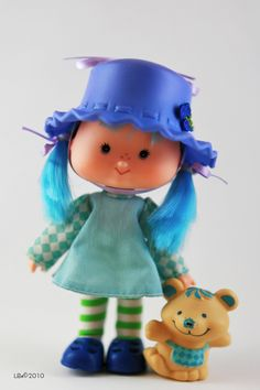 Vintage Strawberry Shortcake Blueberry Muffin Doll and Pet ...