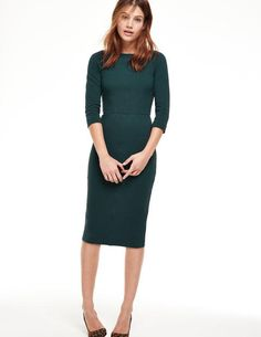 Aurelia Ottoman Dress. Beautiful figure-hugging dress. I would love to have this as a work to dinner option.