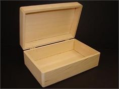 Easy to paint or decorate wood craft box. This rectangular unfinished box is hinged and has plenty of room to keep all your favorite small keepsakes. Box Hinges, Craft Box, Easy Paintings, Wood Crafts, Wood Projects, Crates, Jewelry Box, Decorative Boxes, Home Decor