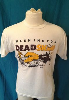 Vintage Washington Deadskins 1980's tshirt Medium by NJVintage, $29.99