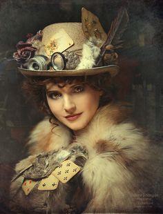Shibina Nadegda  Real Steampunk Victorian Lady
