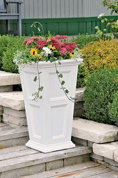 Fairfield Self Watering Patio Planter | Tall Planter | Gardener's Supply gardeners.com