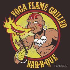 Yoga Flame Grilled BBQ shirt