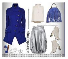 """Rock This Look: Blue and Silver..."" by unamiradaatuarmario ❤ liked on Polyvore featuring Cornelia Webb, Vivienne Westwood Anglomania, Topshop, TIBI, STELLA McCARTNEY, Hermès, Swarovski and blueandsilver"