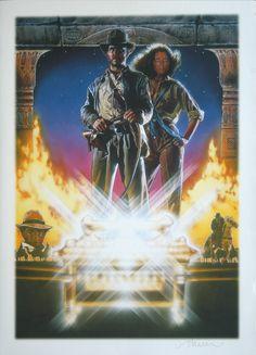『レイダース/失われたアーク《聖櫃》』(1981) アメリカではリチャード・アムゼルのポスターが使われ、アメリカ以外ではストルーゼンの作品が使われた。IMAGE COURTESY OF DREW STRUZAN
