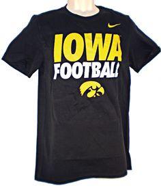 f54a62794 Mesh-Look Black Iowa Football Practice Tee by Nike