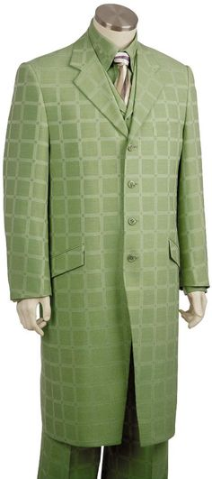Mens Luxurious 3 Piece Long Zoot Suit Olive | MensITALY  Price: US $175