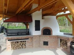 Discover recipes, home ideas, style inspiration and other ideas to try. Outdoor Kitchen Grill, Outdoor Grill Area, Pizza Oven Outdoor, Backyard Kitchen, Outdoor Kitchen Design, Summer Kitchen, Backyard Barbeque, Fire Pit Backyard, Barbecue Design