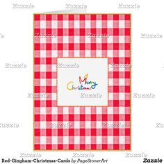 Red-Gingham-Christmas-Cards Card