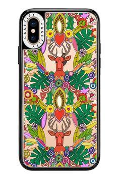 @casetify #exclusive #sharonturner #christmas #holiays #transparent #iphonecase #phonecase #seethru #deer #maximalist #maximalism #monstera #holly #baubles #festive #heart #pattern #illustration
