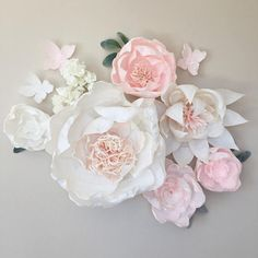 Paper Flower Backdrop // Paper Flower Wall // Crepe Paper Flowers // Giant