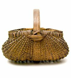 Antique Buttocks Basket: American, Late 19th Century Basket For Salezandkantiques.com