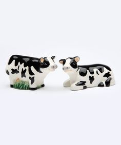 Look at this Mini Cow Salt & Pepper Shakers on #zulily today!