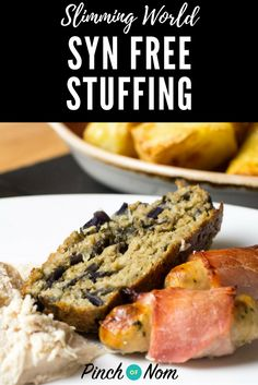You can have food that is just as tasty and syn free? Don& jump off the Slimming World wagon, enjoy this Syn Free Sage And Onion Stuffing with your roast! Slimming World Free, Slimming World Snacks, Slimming World Recipes Syn Free, Slimming Eats, Syn Free Gravy, Sage And Onion Stuffing, Stuffing Mix, Syn Free Food, Syn Free Snacks