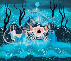 The Walt Disney Film Archives. The Animated Movies book, conceptual art of Cinderella's fairy godmother creating her coach: a gouache by artist Mary Blair for Cinderella Walt Disney, Disney Magic, Disney Pixar, Disney Films, Mary Blair, Disney Vintage, Retro Disney, Disney Animation, Disney Dream