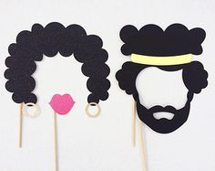 80's Photo Booth Props 1980's Birthday Party by LetsGetDecorative