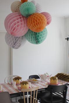 paper ball chandelier