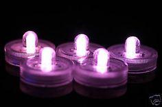 3 SAFE PURPLE FLORALYTE SUBMERSIBLE LED LIGHT WEDDING TABLE CENTREPIECE