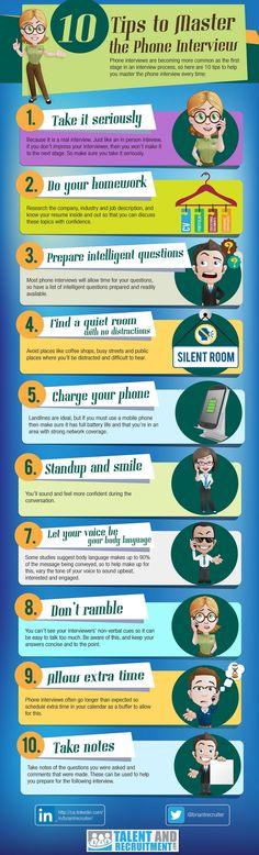 phone interview tips infographic #jobinterview #jobs #careers @interviews