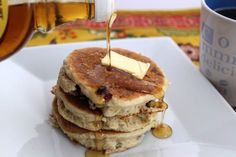 I used almond/coconut milk and gluten free King Arthur multi-purpose flour. they were not as thick as the picture but was a good gluten free pancake recipe (banana gluten free pancakes almond milk) Best Gluten Free Pancakes Recipe, Breakfast For Dinner, Breakfast Recipes, Paleo For Beginners, Tasty, Yummy Food, Pancakes And Waffles, Convenience Food, Baby Food Recipes