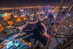 https://flic.kr/p/CWRxZ4 | Dubai marina view | 3 image exposure blending.